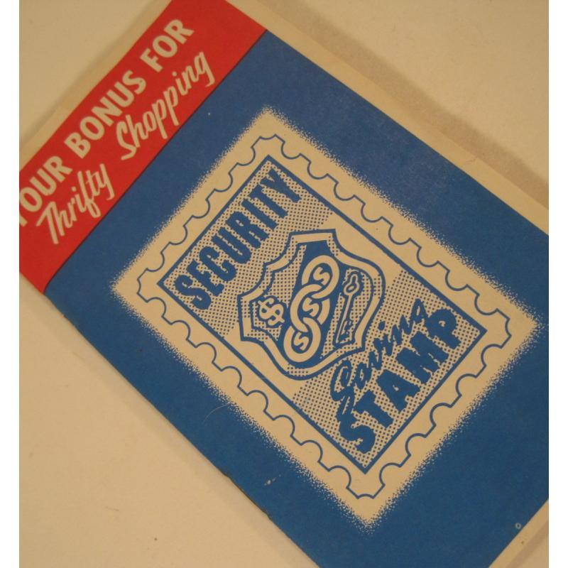 1930s〜1950s・ビンテージ・ショッピングスタンプブック・Security Saving【A】