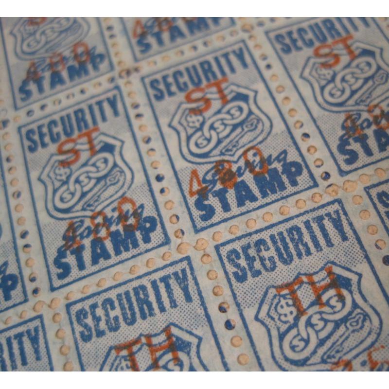 1930s〜1950s・ビンテージ・ショッピングスタンプブック・Security Saving【A】【画像7】