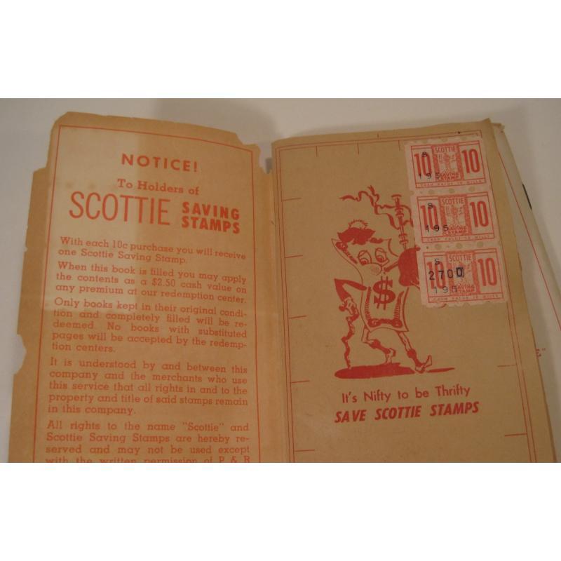 1930s〜1950s・ビンテージ・ショッピングスタンプブック・Scottie【画像6】