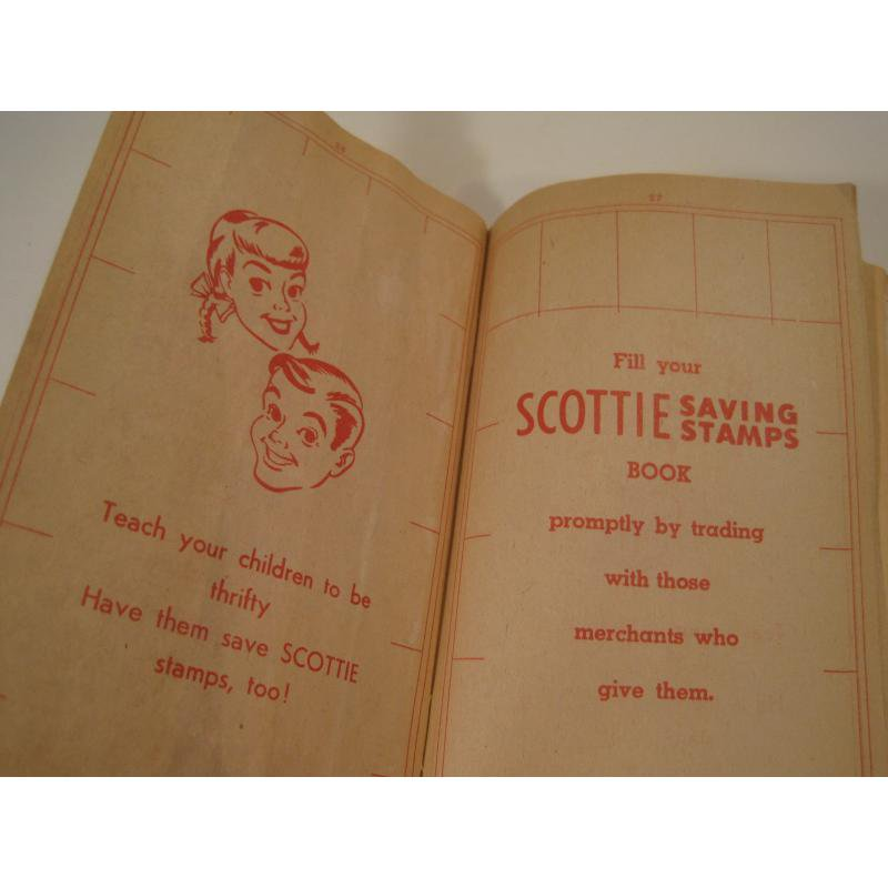 1930s〜1950s・ビンテージ・ショッピングスタンプブック・Scottie【画像7】