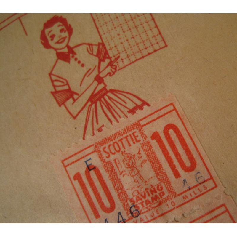 1930s〜1950s・ビンテージ・ショッピングスタンプブック・Scottie【画像8】