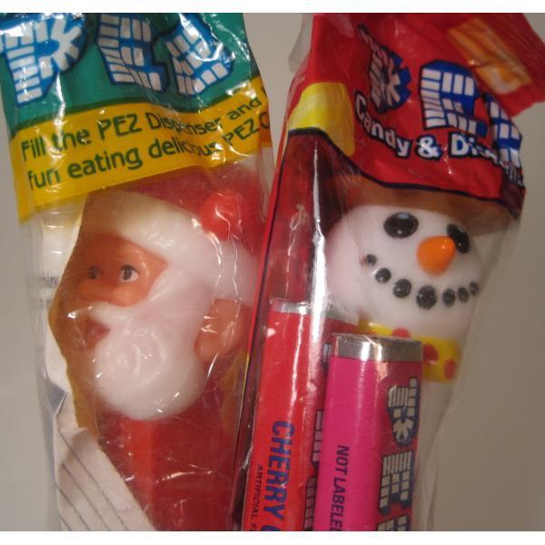 PEZ・ペッツ・サンタとスノーマン2体セット・A【未使用未開封】【画像3】