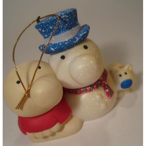 ヴィンテージクリスマスオーナメント・ジギー君とそっくり雪だるま