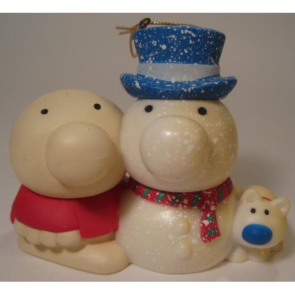 ヴィンテージクリスマスオーナメント・ジギー君とそっくり雪だるま【画像2】