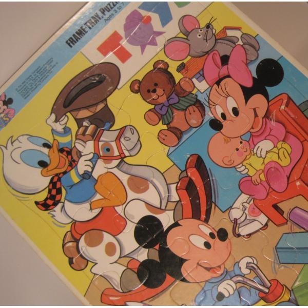 ミッキーマウスベイビーズ・合板木製・子供用ジグゾーパズル