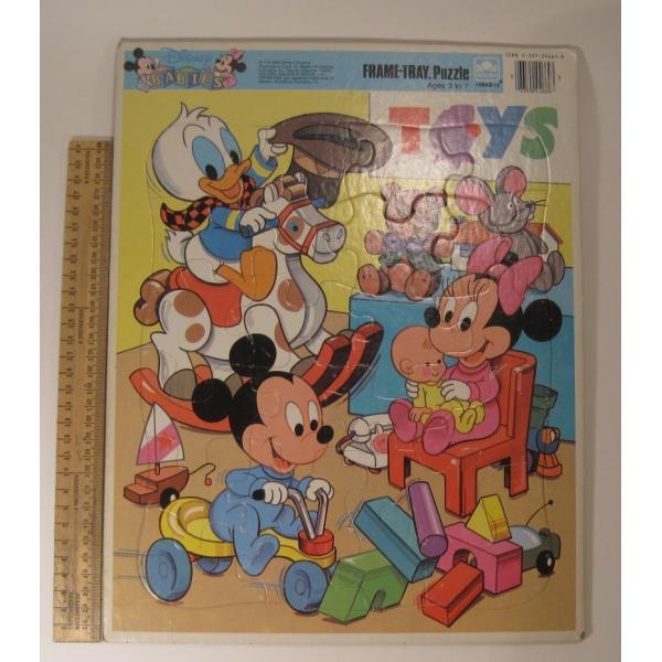 ミッキーマウスベイビーズ・合板木製・子供用ジグゾーパズル【画像2】