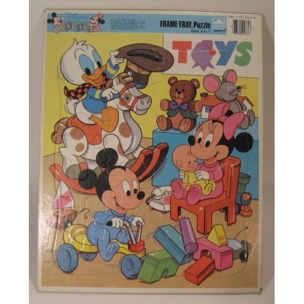 ミッキーマウスベイビーズ・合板木製・子供用ジグゾーパズル【画像3】