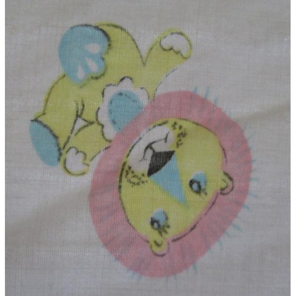 ヴィンテージシーツ・小さなパステルの動物たち・ゴム入り【画像8】
