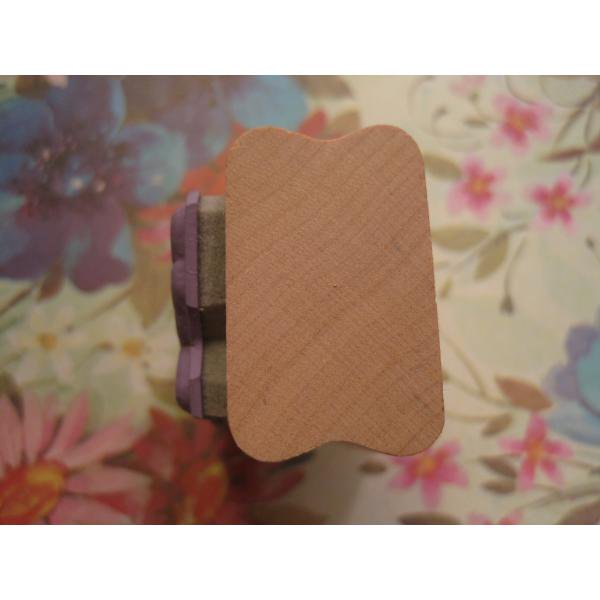 ビンテージ木製スタンプ・バタフライ【D】【画像3】