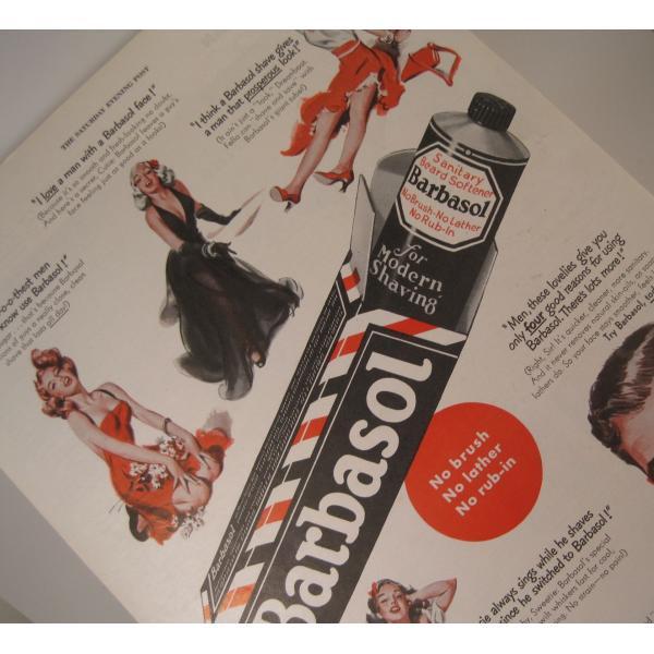 ヴィンテージ広告・アメリカ・シェービングクリーム・1949年