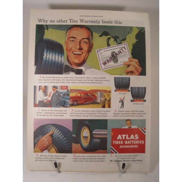 ヴィンテージ広告・アメリカ・モーター系・アトラスタイヤ・1949年【画像2】