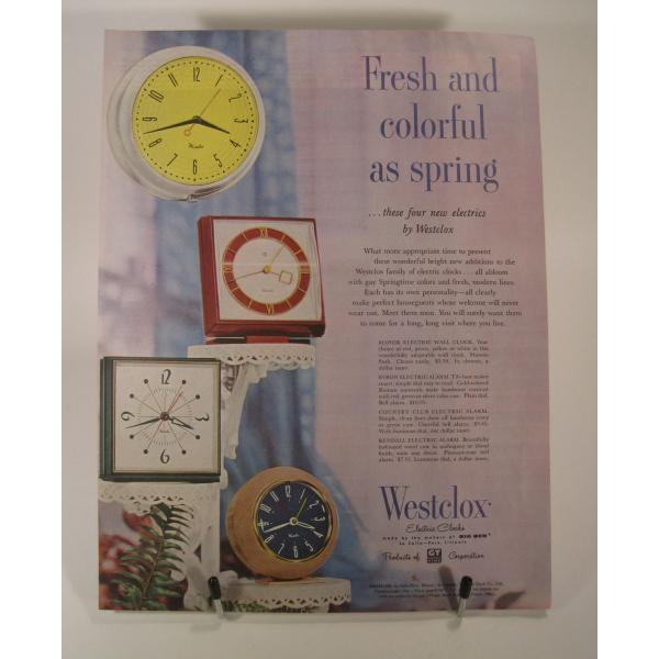ヴィンテージ広告・アメリカ・ウエストクロック・1954年【画像2】