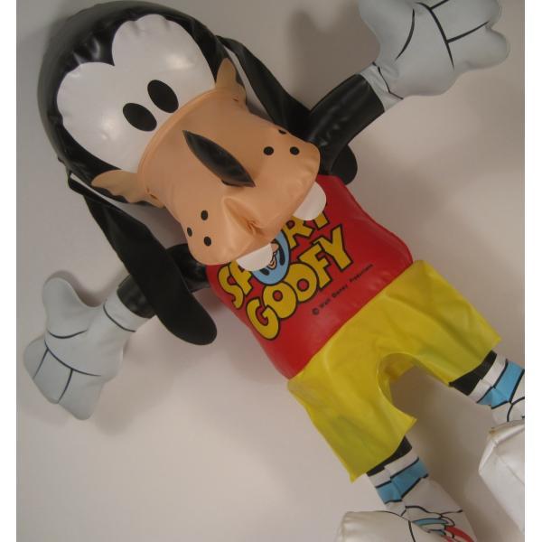 ミッキーマウスの仲間・グーフィー・ビニール製人形・ディズニー