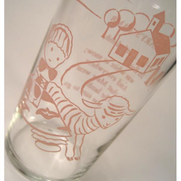 メリーさんの羊・ピンクプリントグラス