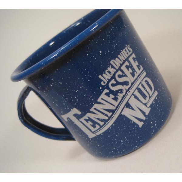 ジャックダニエル Jack Daniel's Tennessee Mud ブルーホーロー マグ カップ A