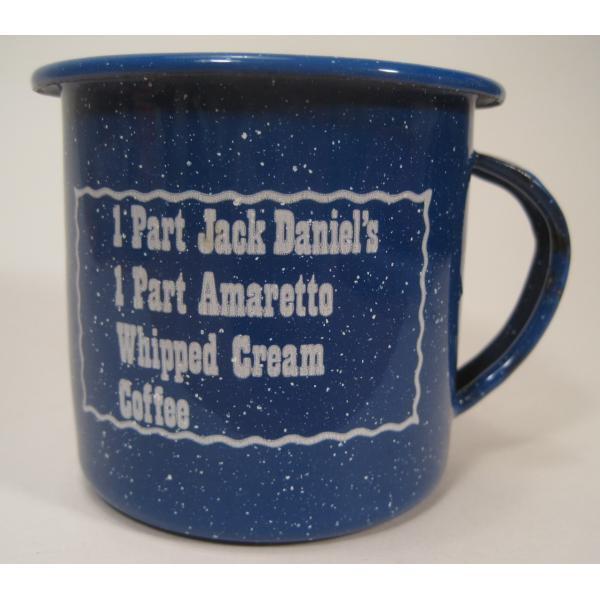 ジャックダニエル Jack Daniel's Tennessee Mud ブルーホーロー マグ カップ A【画像2】