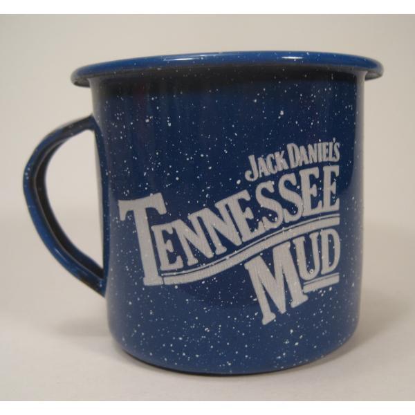 ジャックダニエル Jack Daniel's Tennessee Mud ブルーホーロー マグ カップ A【画像4】