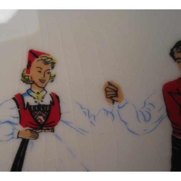 フィッギオ・ノルゲ・ノールウェイ・Hardanger Dancers by Figgjo・長方形プレート・大量入荷につき期間限定ご奉仕価格!【画像5】