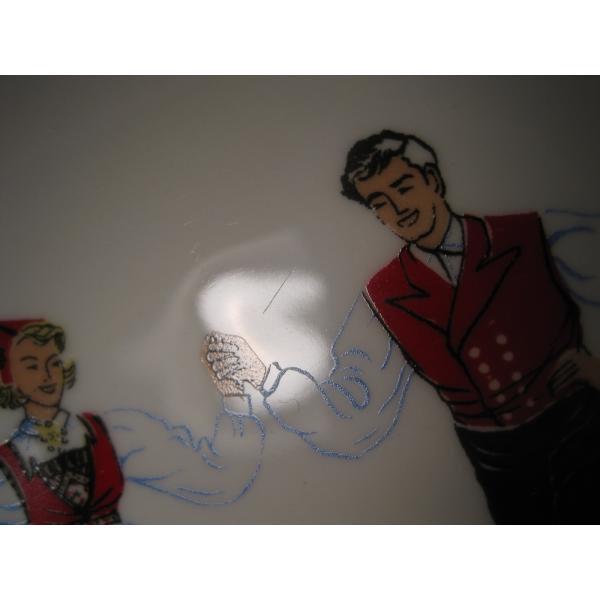 フィッギオ・ノルゲ・ノールウェイ・Hardanger Dancers by Figgjo・灰皿【A】大量入荷につき期間限定ご奉仕価格!【画像4】