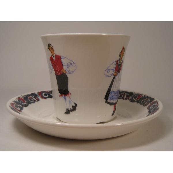 フィッギオ・ノルゲ・ノールウェイ・Hardanger Dancers by Figgjo・カップ&ソーサー【A】大量入荷につき期間限定ご奉仕価格!【画像3】
