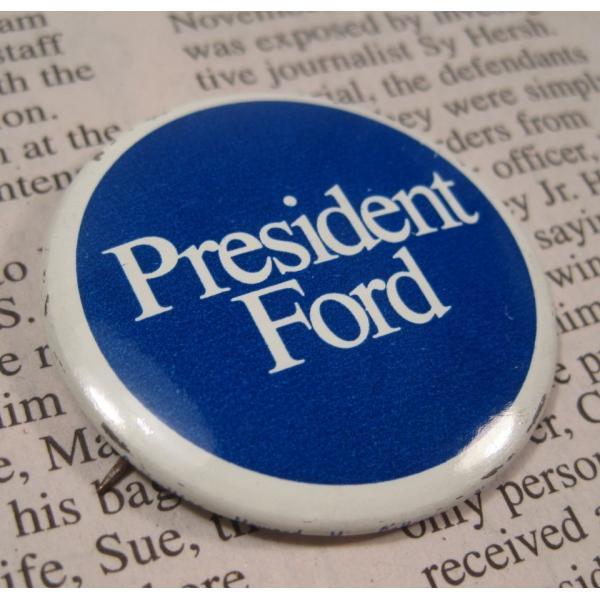 ヴィンテージ缶バッチ・President Ford・大統領選挙