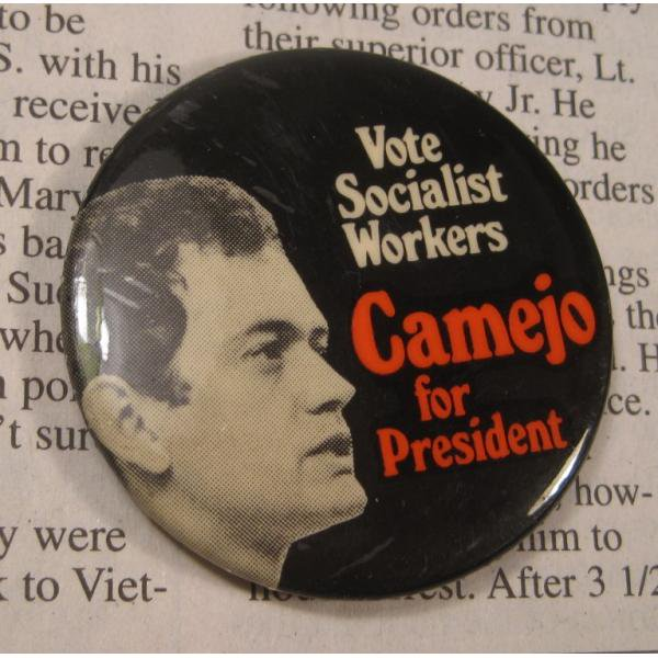 ヴィンテージ缶バッチ・Camejo for President・大統領選挙候補【画像2】
