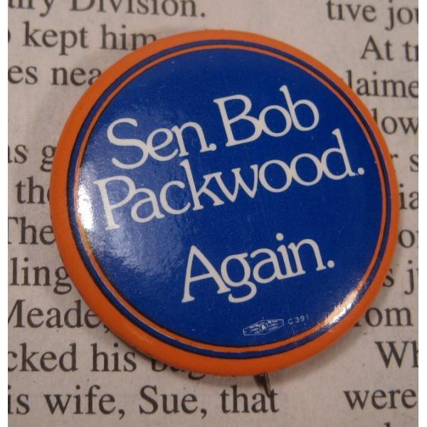 ヴィンテージ缶バッチ・Bob Packwood・選挙候補者【画像2】
