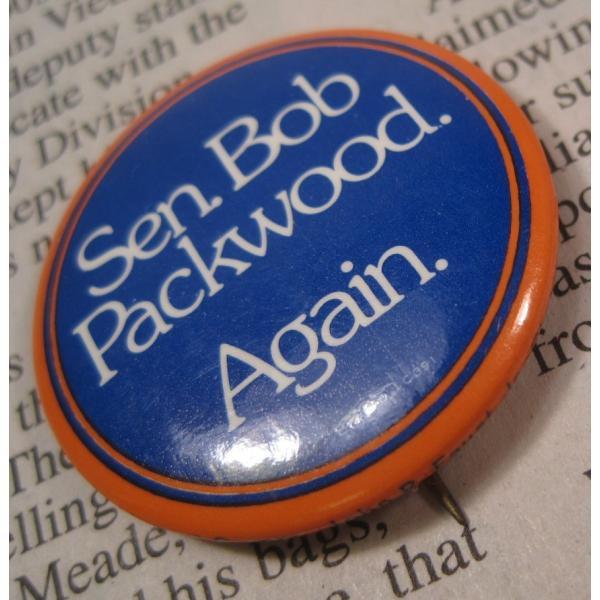 ヴィンテージ缶バッチ・Bob Packwood・選挙候補者【画像3】