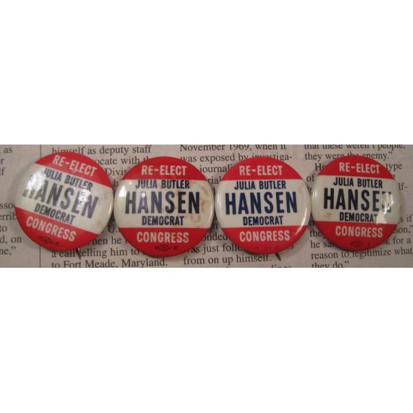 ヴィンテージ缶バッチ・Julia Butler Hansen・選挙候補者【画像3】