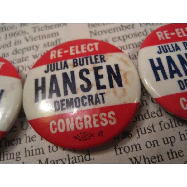 ヴィンテージ缶バッチ・Julia Butler Hansen・選挙候補者【画像5】