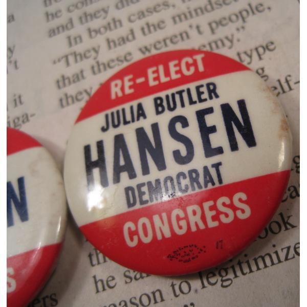 ヴィンテージ缶バッチ・Julia Butler Hansen・選挙候補者【画像7】