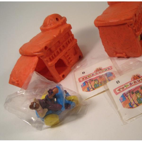 1993年・ハッピーミール・フリントストーン・ぺブルスとディノのトイザラス・おもちゃ屋さんセット