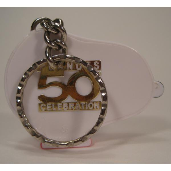 ヴィンテージ・スヌーピー50周年記念時計型・プラスチック製キーホルダー【画像4】