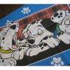 ピローケース ヴィンテージ・キャラクター・ピローケース・101匹わんちゃん・赤のタータンチェックとわんちゃんの足跡