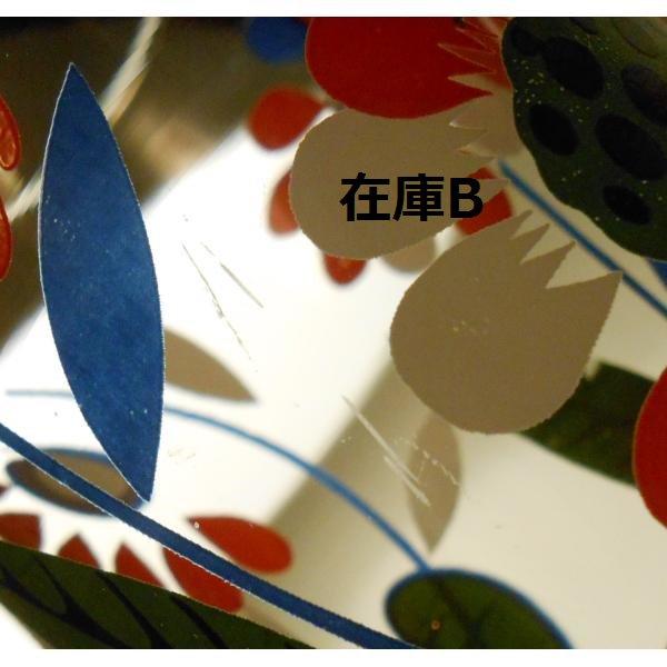 オレンジ&ブルー&ホワイト・レトロフラワーグラス【画像6】