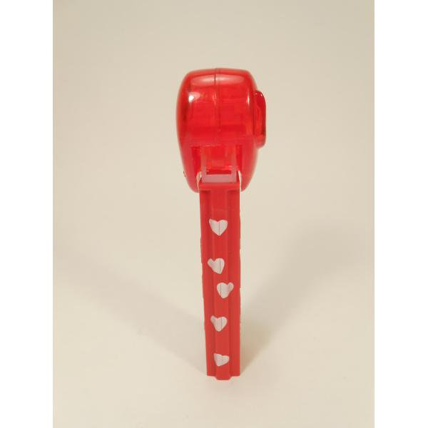 PEZ・ペッツ・バレンタインハート・Happy Valentine's Day・クリアレッドハート&赤ベース白ハートステム・中国製【画像5】