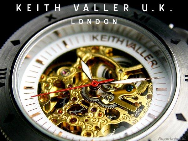 限定モデル【KEITH VALLER】キースバリーU.K.両面スケルトン 機械式自動巻腕時計(KFS:GL)