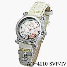 ※メーカー取寄せ【Alessandra Olla】4年電池チャーム付本革ベルト時計(AO-4110-2-IV)
