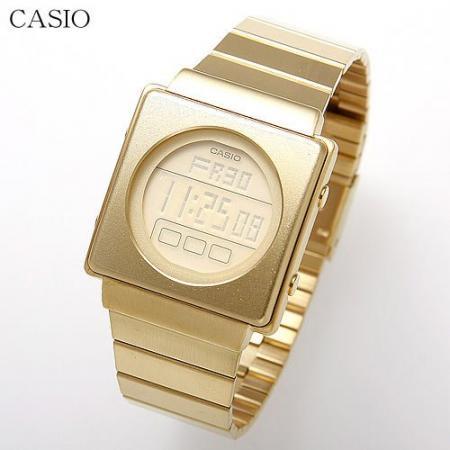 【CASIO】 FUTURIST レトロフューチャー デジタル腕時計 LA-2002G-9A(ゴールド)日本未発売モデル