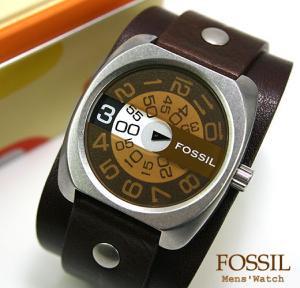 FOSSIL 1針回転文字盤Wベルトメンズウォッチ(JR8789)