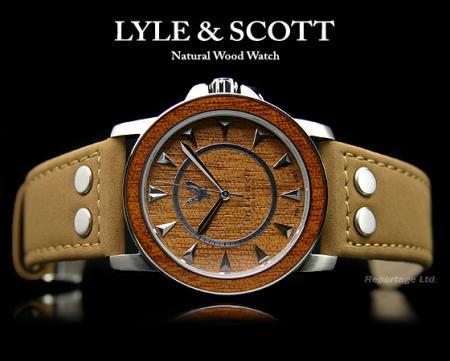 【LYLE&SCOTT】天然ウッド文字盤&本革バンド時計(LA-8811-32)