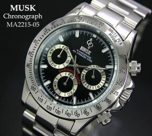 hot sale online b33ae 9e2c1 【MUSK】 デイトナタイプ クロノグラフ MA2115-05 - 腕時計のセレクトショップ Reportage