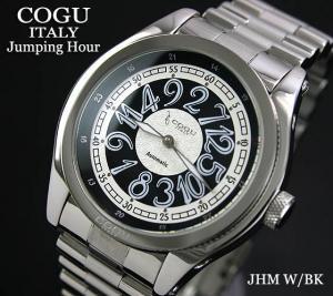 【COGU】ジャンピングアワー JHM W/BK 自動巻 メタルブレス