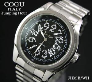【COGU】ジャンピングアワー JHM BK 自動巻 メタルブレス
