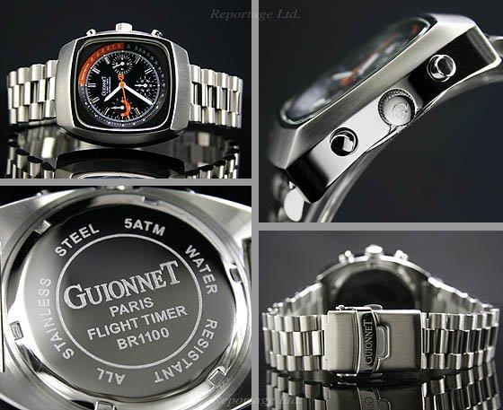 e049bbdeb3 【GUIONNET】フライトタイマー70's風 レーシングクロノ(BR1100N) - 腕時計のセレクトショップ Reportage
