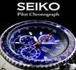 送料無料【SEIKO】セイコー海外モデル 1/20秒高速パイロットクロノ メンズ腕時計(SND255PC)