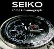 送料無料【SEIKO】セイコー海外モデル 1/20秒高速パイロットクロノ メンズ腕時計(SND253PC)